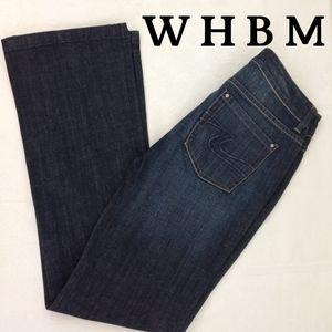 WHBM Dark Wash, Bootleg Jeans